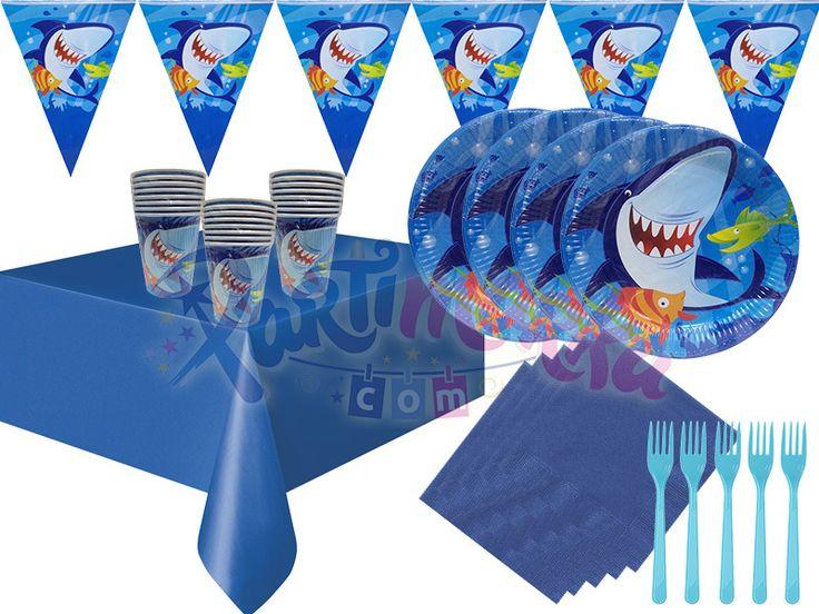 Köpek Balığı Doğum Günü Parti Seti