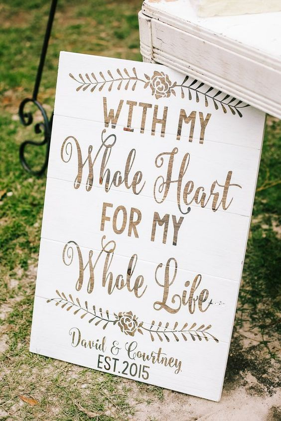 Rustic Country Wedding Sign Ideas / http://www.deerpearlflowers.com/30-rustic-wedding-signs-ideas-for-weddings/3/