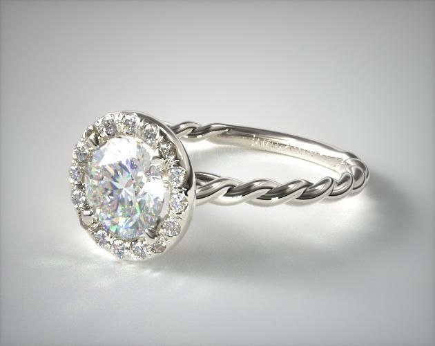lyst jewelry cable cushion classic rings platinum solitaire dy yurman david ring in engagement