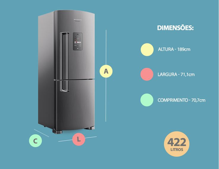 Geladeira / Refrigerador Brastemp Inverse Frost Free BRE50NK 422L Evox…