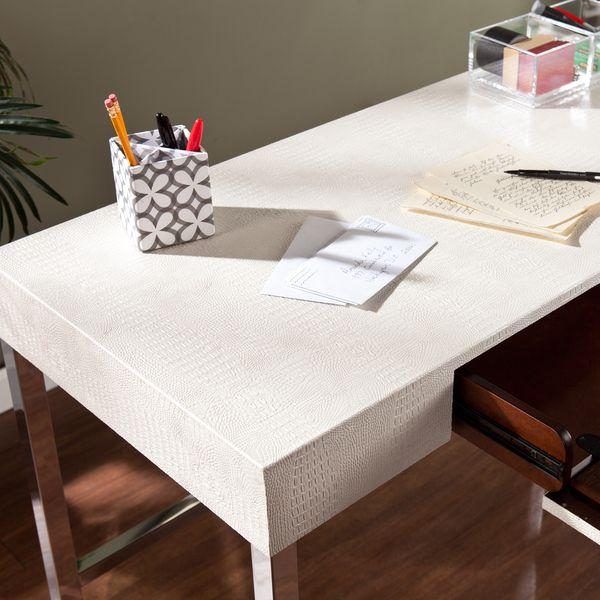Upton Home Vivica Cream Reptile Contemporary Desk Overstock Shopping Great  Deals On Upton Home. 110