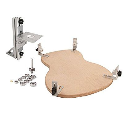 StewMac TrueChannel Binding Router Jig with Guitar Body Cradle and Binding Bit Set