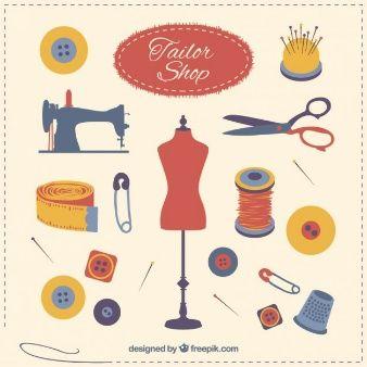éléments de boutique de tailleur