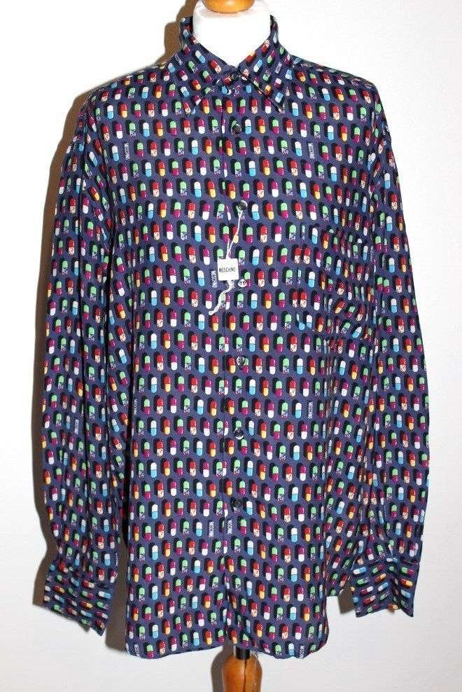 VINTAGE 90S MOSCHINO MENS SHIRT SIZE M (MATCHING TROUSERS IN SEPERATE LISTING)