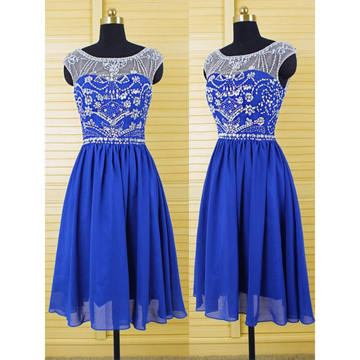 Short Royal Blue Homecoming Dresses Cocktail Dresses pst0219