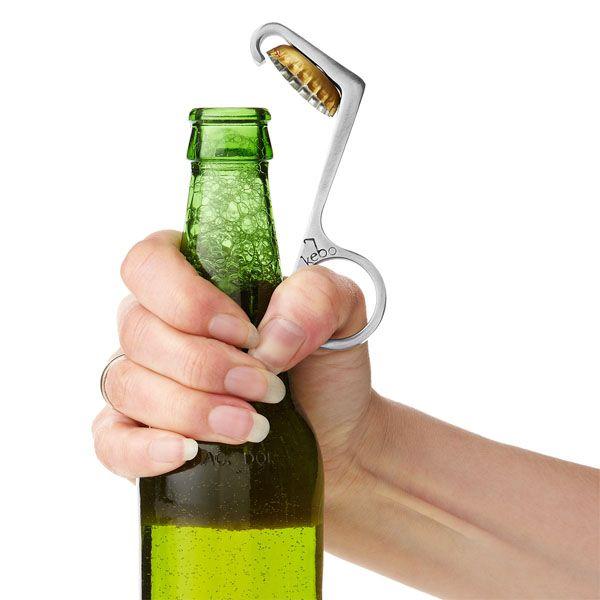 One-Handed Bottle Opener