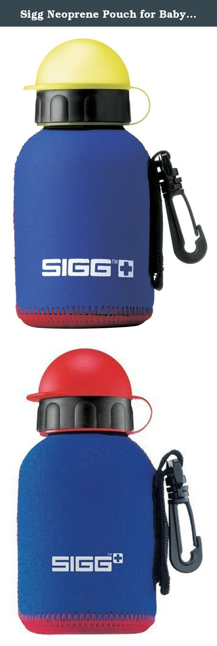 Sigg Neoprene Pouch for Baby Water Bottles (0.3-Liters, Blue). Insulating and effective neoprene pouch for SIGG drinking bottles. The SIGG bottles insulate warm and cold drinks for up to 3 hours thanks to the SIGG pouch. The bottle can be easily transported and fixed thanks to the practical clip, and it will avoid it to get lost inside the bag. The drink is always ready to grab. The zip makes possible to tuck the Sigg bottle in the pouch. SIGG bottle not included. , Protective pouch for…