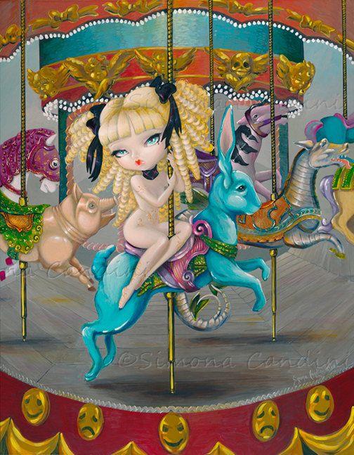Le carrousel de Mimi SIGNED PRINT Simona Candini by SimonaCandini