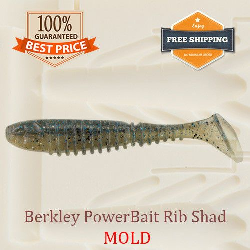 Details about PowerBait Rib Shad Fishing Mold Swimbait Lure