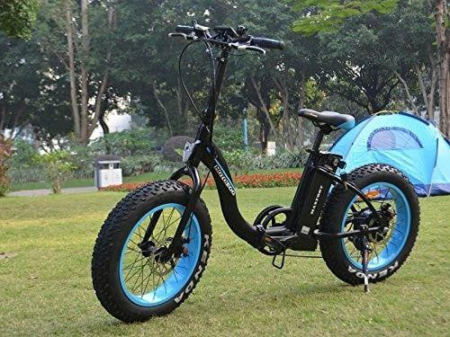 20 inch Fat Tire Portable Smart Folding Electric Bike 500W 48V E-Bike