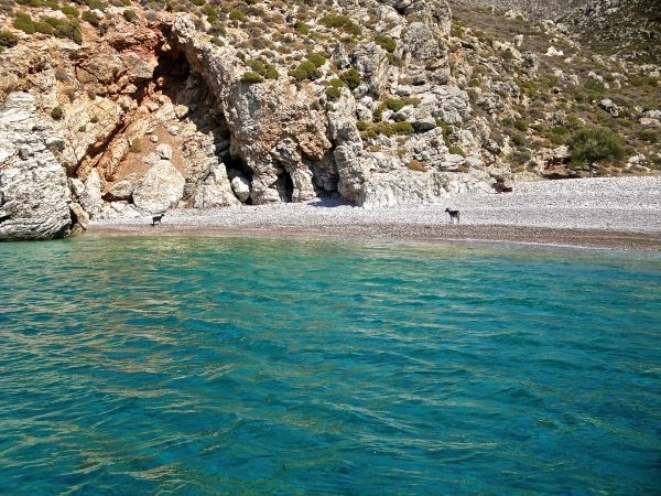 Wild beach of Agios Sergios