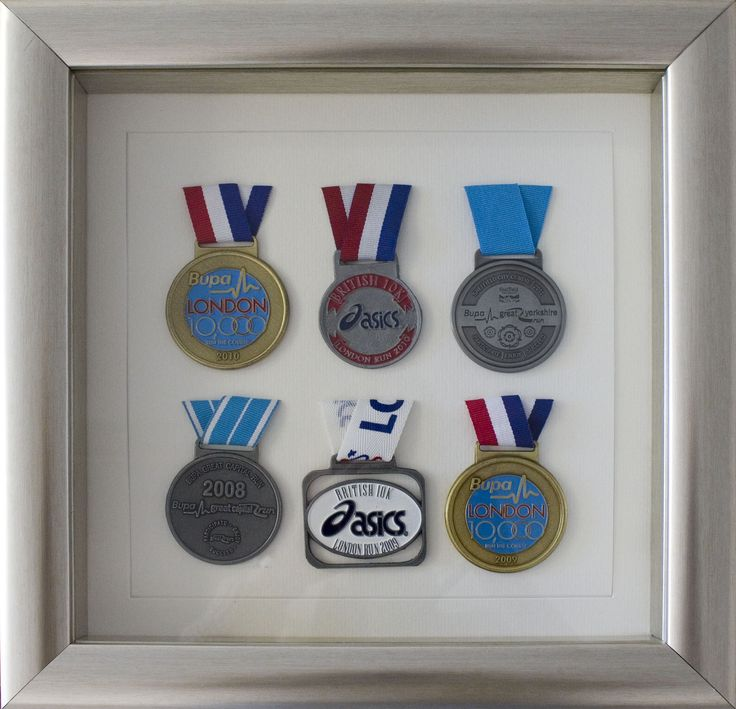 Box frame for medals