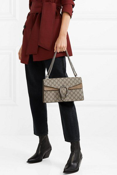 0d7cbf07205 Gucci dionysus small printed coated-canvas and suede shoulder bag.  gucci   bags