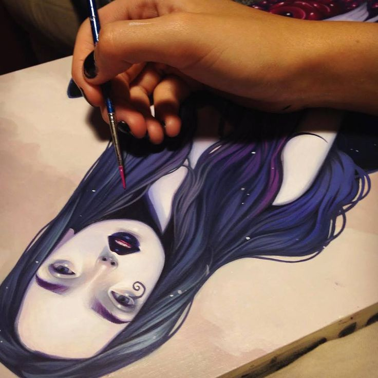 Kelsey Beckett Illustration Love the painting of the hair!!