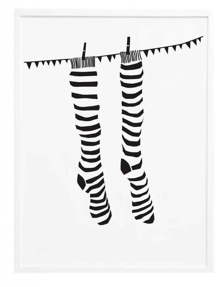 Poster - Knock your socks off - 50x70 cm ONE MUST DASH