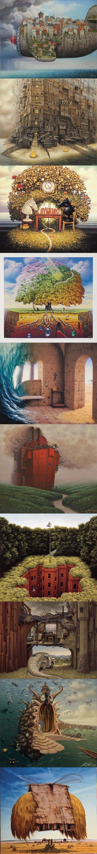 Jacek Yerka'dan Gerçeküstü Sanat Çalışmaları - 4finite.com