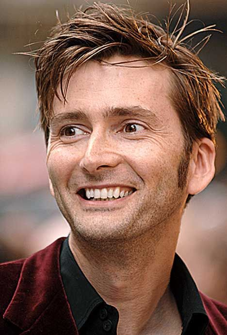 David Tennant, the best Doctor to ever have the role. with the best hair. just cant get over that hair...