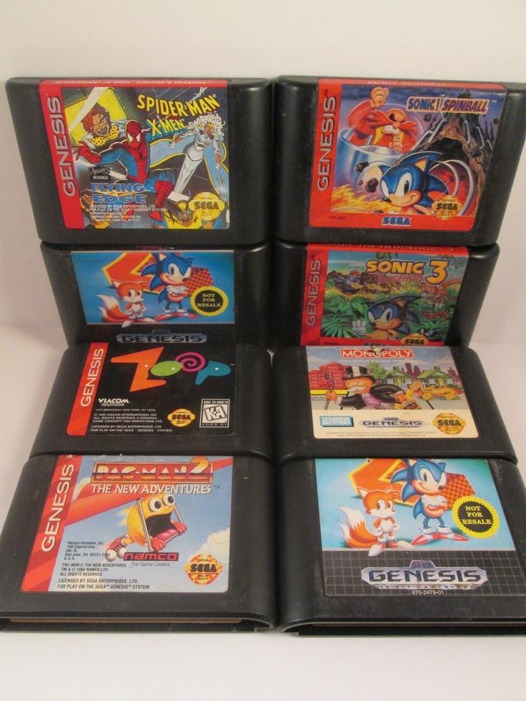 Mixed Lot Of Seven Sega Genesis Games Sonicspinball Sonic