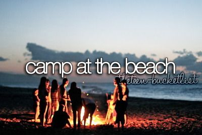 I'm going to sleep on the beach on 4th of July sometime in my life!!