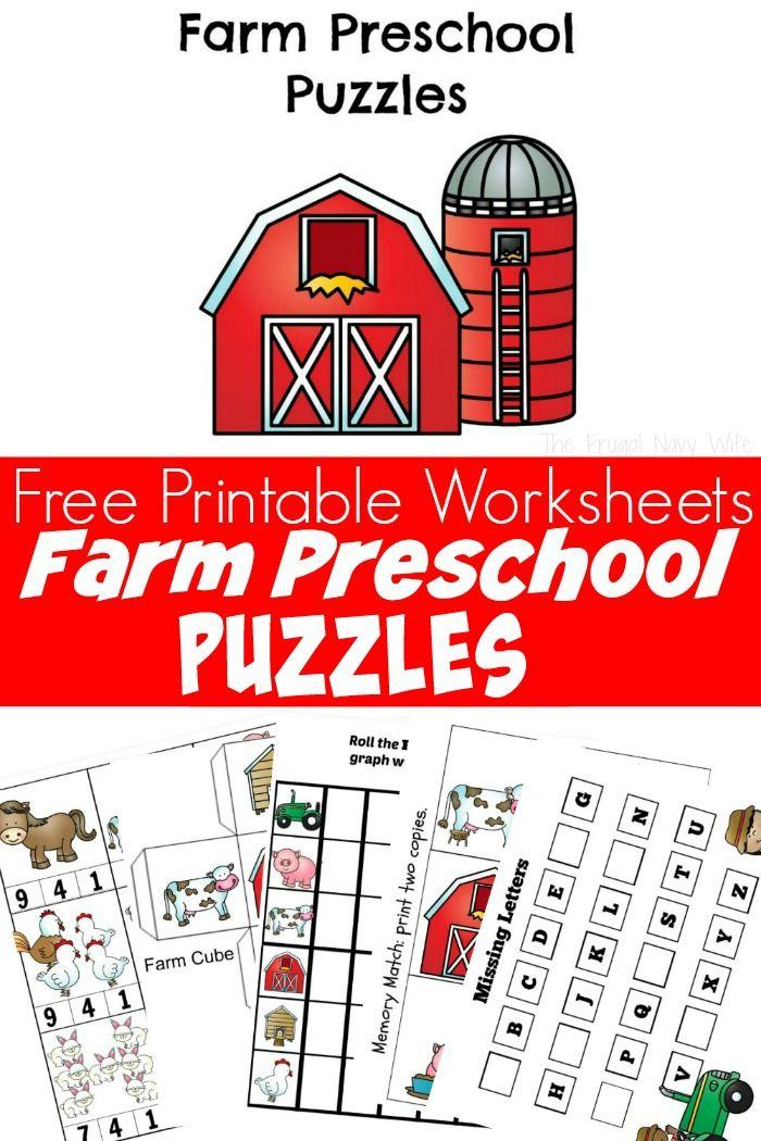 Farm Animal Preschool Activities and Printables