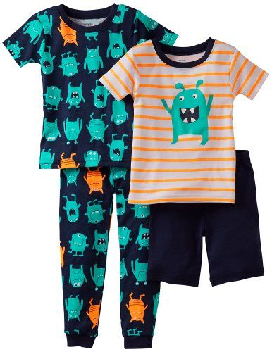 Carter's Little Boys' 4 Piece Printed Cotton Set (Toddler/Bbay) (6M) Carter's…