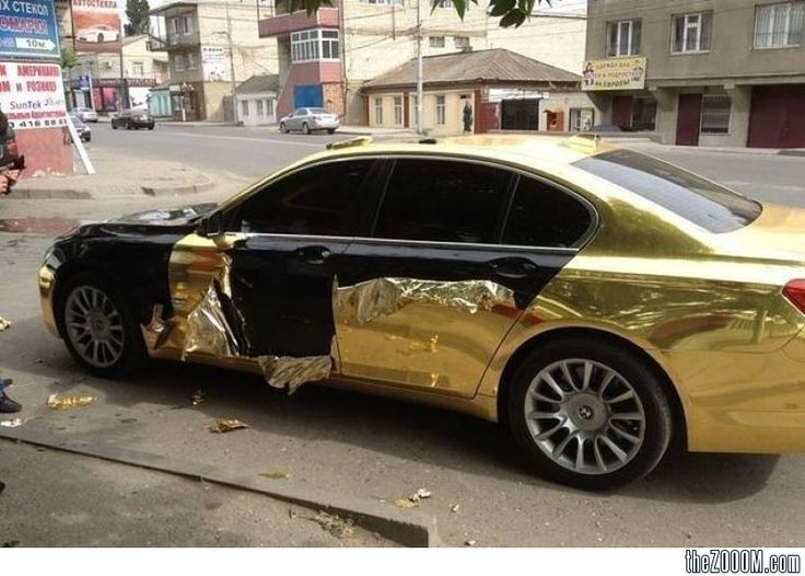 Fake Gold Car....Bling Fail!