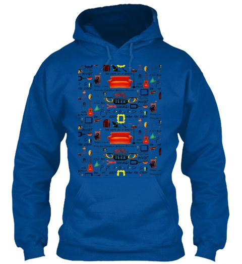 Friends Collage Royal Sweatshirt Front