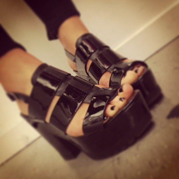 Wittner   Cannon Patent Leather Platforms