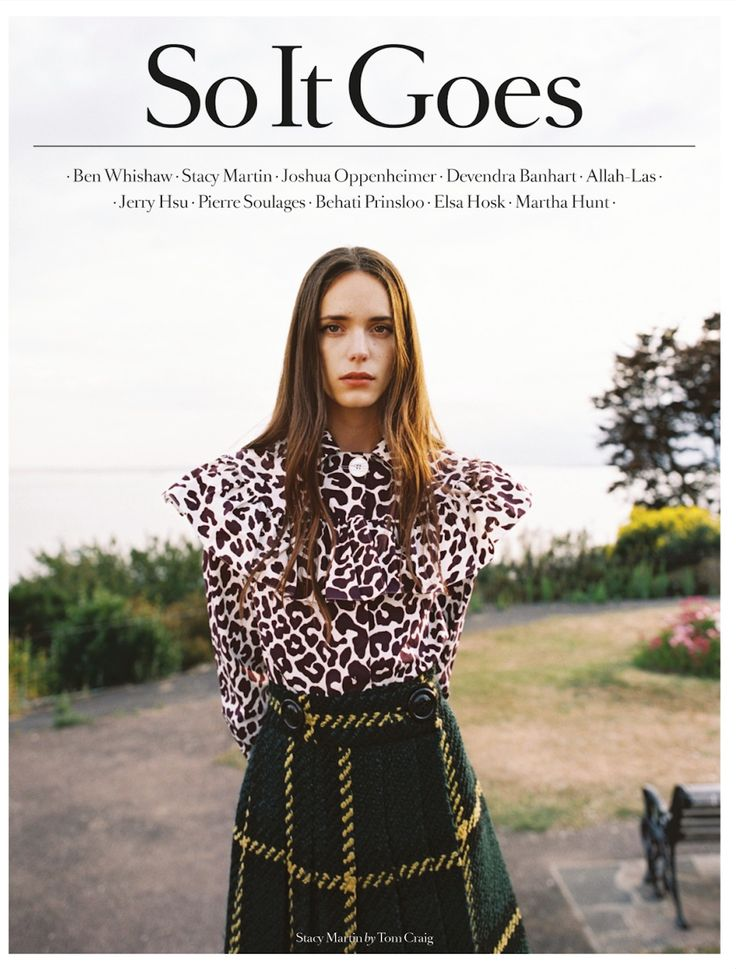 soitgoesmag:  The third of our four covers for So It Goes, Issue.6. – Stacy Martin by Tom Craig. Order here for worldwide shipping - http://soitgoesmag.com/magazine/issue-6-stacy-martin/ Styled by Bay Garnett in Miu Miu