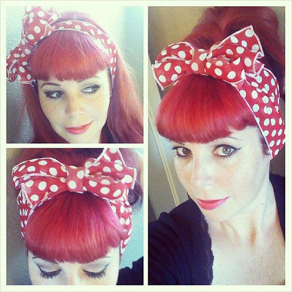 red with white polka dots vintage