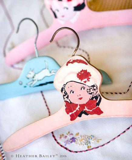 Hanger Management: Vintage Childrens Hangers – Modern Kiddo #matildajaneclothing #MJCdreamcloset