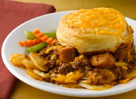 Simply Potatoes: Chili Dog Casserole Recipe - I will make this just ...
