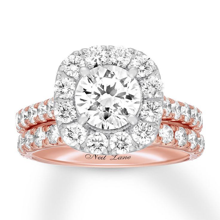 Neil lane bridal set 338 ct tw diamonds 14k rose gold