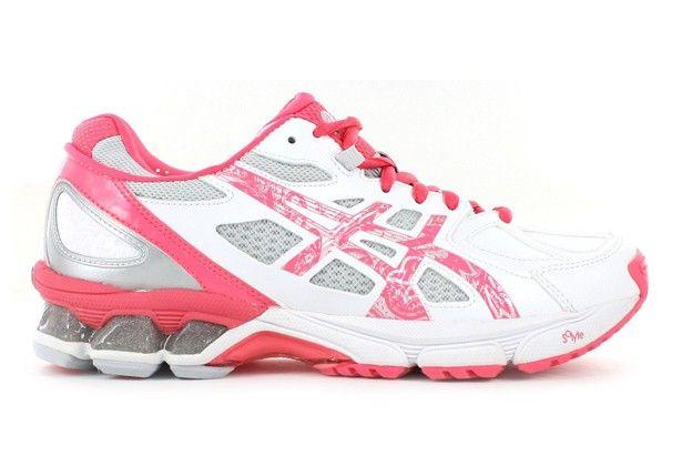 ASICS Womens Gel-Netburner Professional 9 White/Hotter Pink/Silver - Womens