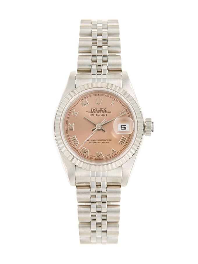 Rolex Oyster Perpetual Datejust Stainless Steel & Salmon Dial Watch, 27mm from Estate Watches Feat. Cartier on Gilt