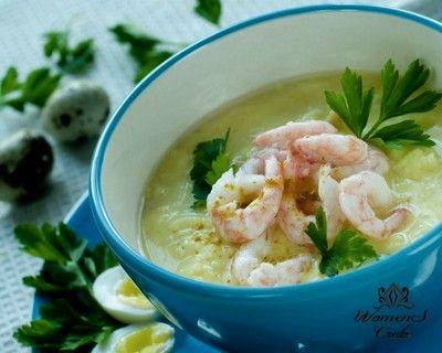 Суп-крем с креветками | Женское кредо