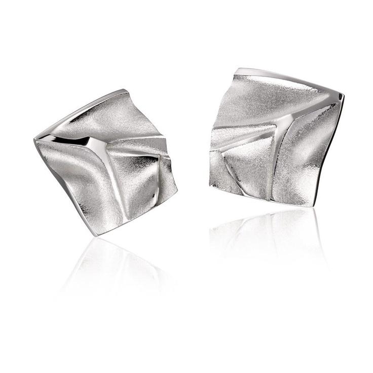 GELO  Design Björn Weckström / Silver Earrings / Lapponia Jewelry / Handmade in Helsinki