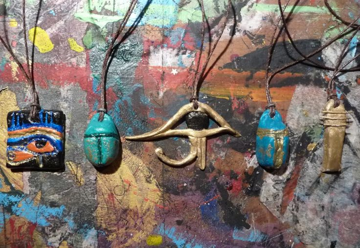 homemade egyptian amulets - need to find images to inspire
