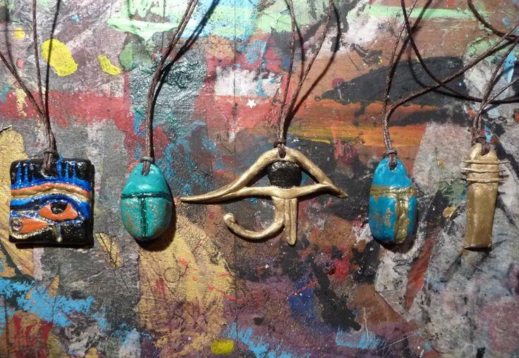 homemade egyptian amulets