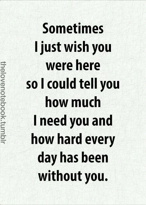 Quotes About Love For Him Sometimes I Just Wish You Were Here So I