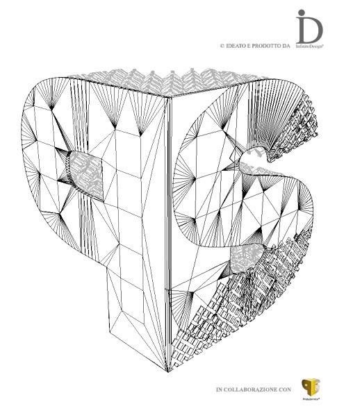 RENDERING 3D PROTOSERVICE BRAND -  Virtualizzazione #3D logo aziendale PS in metallo. Sperimentazione per la realizzazione di un #prototipo in #titanio, creando un portachiavi marchiato #ProtoService. #protype #render