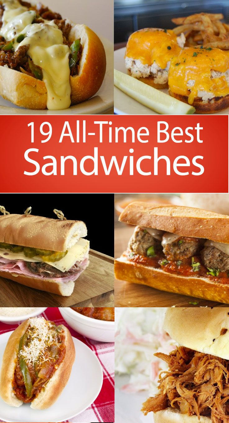 19 All Time Best Sandwiches: Sandwiches are the perfect lunch and dinner go-to meal. Easy, delicious and so versatile