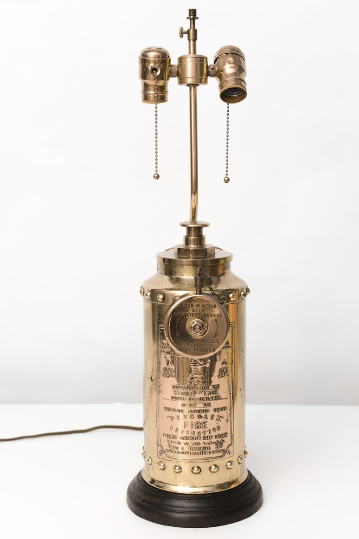 1stdibs   Antique English Fire Extinguisher Lamp