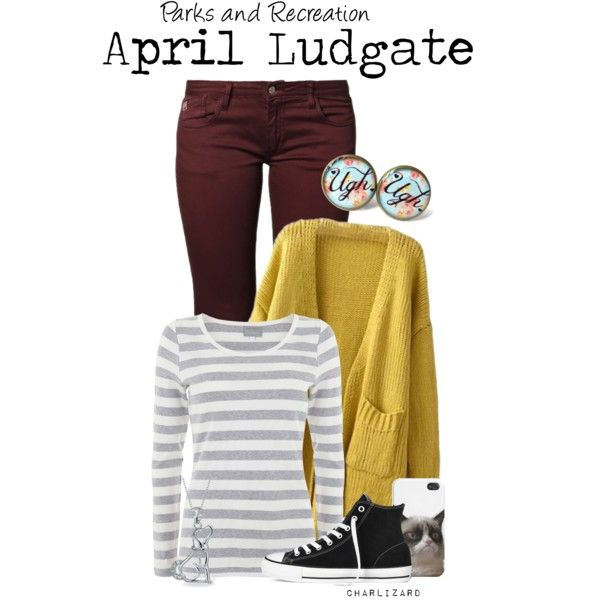 """""""April Ludgate"""" by charlizard on Polyvore"""
