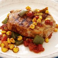 Foil-Wrapped Mexican Pork Chops #protein #vegetables #myplate