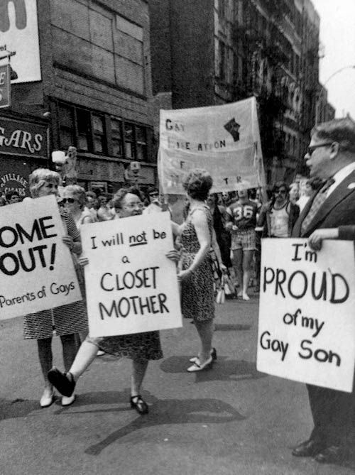 """1974 : """"I'm proud of my gay son"""", New York City Curated by Chris Wild"""