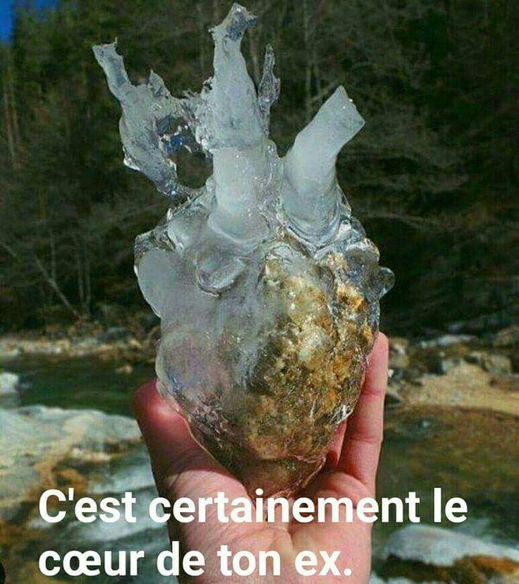 Tiens-Tiens une pierre gelée ....