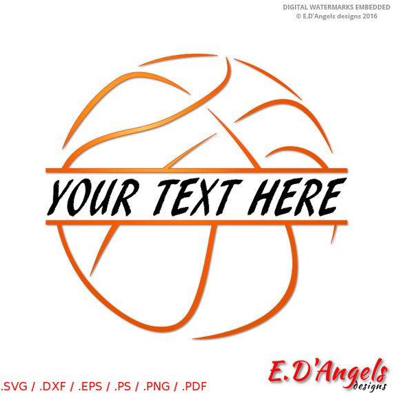 Basketball svg  Basketball monogram  Split monogram by ArtsCorner