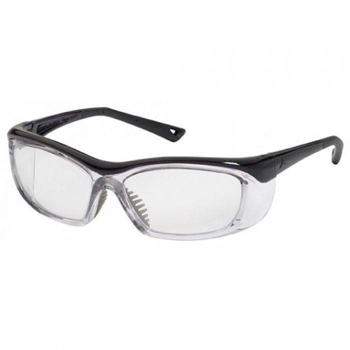OnGuard 220S Prescription Safety Glasses, Non-Conductive Plastic Frame, #OG-220S Clear Opaque Black