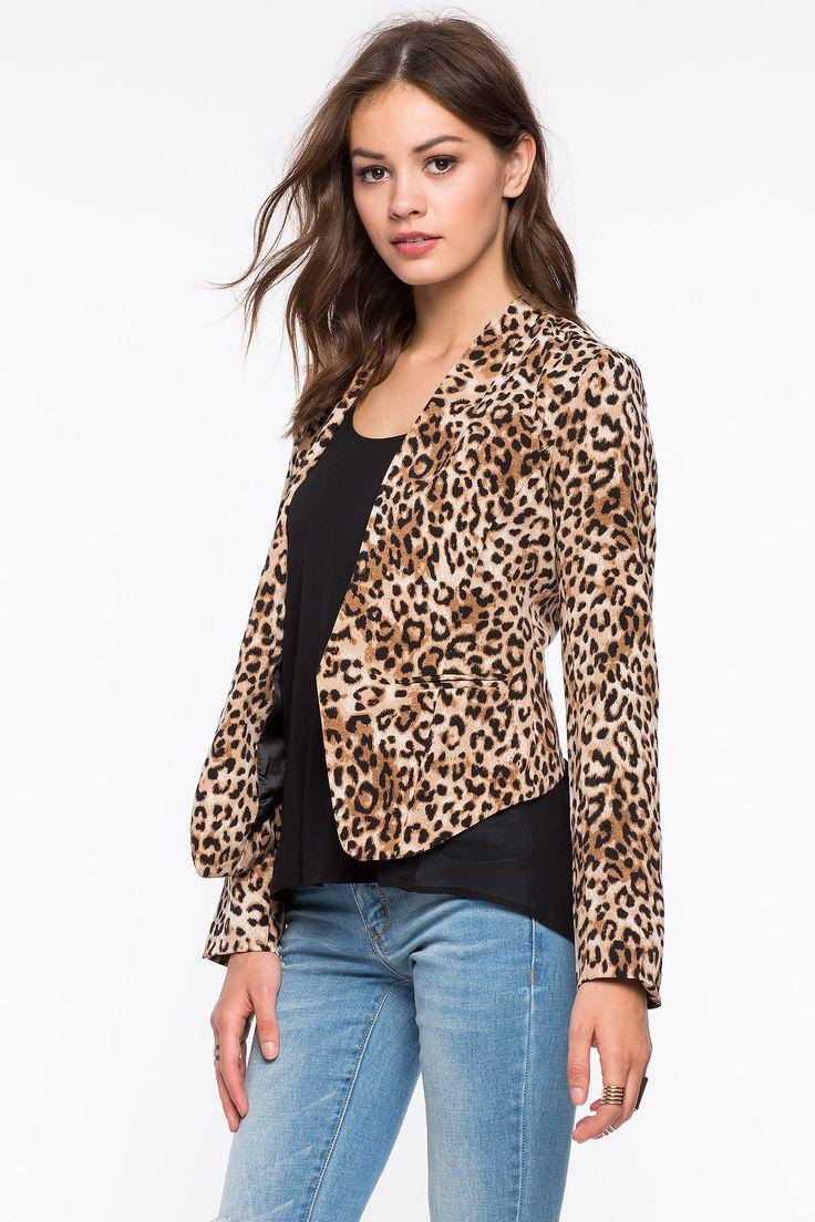 Леопардовый пиджак Размеры: S, M, L, XL Цвет: коричневый с принтом Цена: 1829 руб.  #одежда #женщинам #пиджаки #коопт